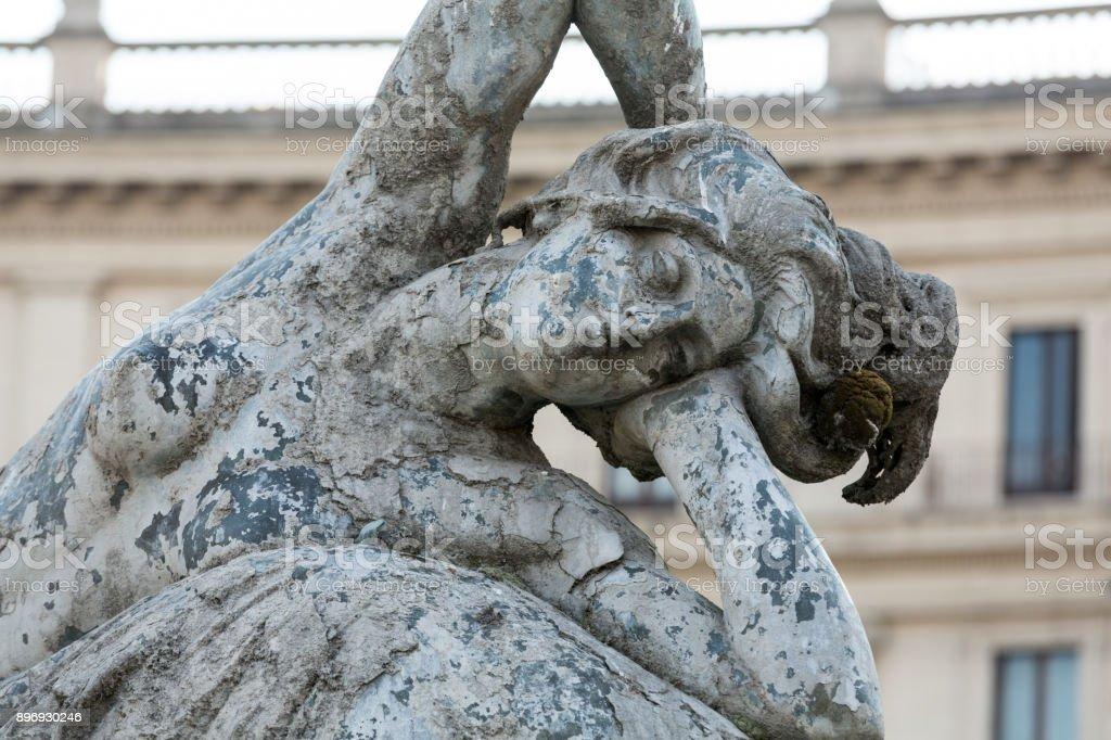 The Fountain of the Naiads on Piazza della Repubblica in Rome. Italy stock photo