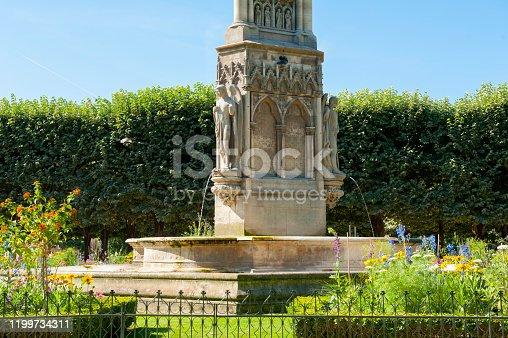 La fontaine de la Vierge near Notre Dame de Paris