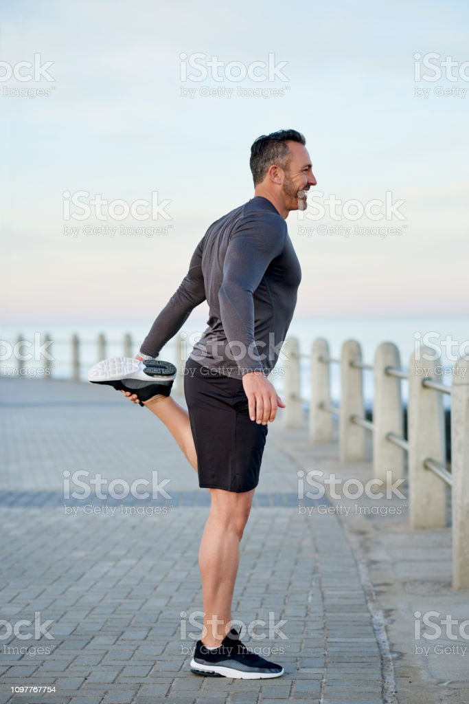 The Fountain of Youth isn't some magical water source, it's exercise! stock photo
