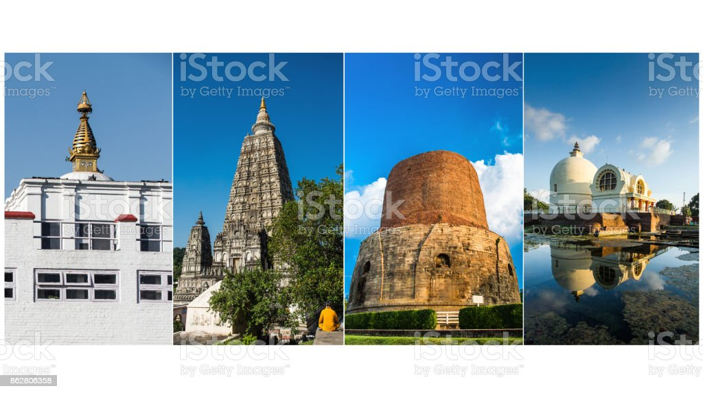 The Four Holy Places of Buddhism stock photo