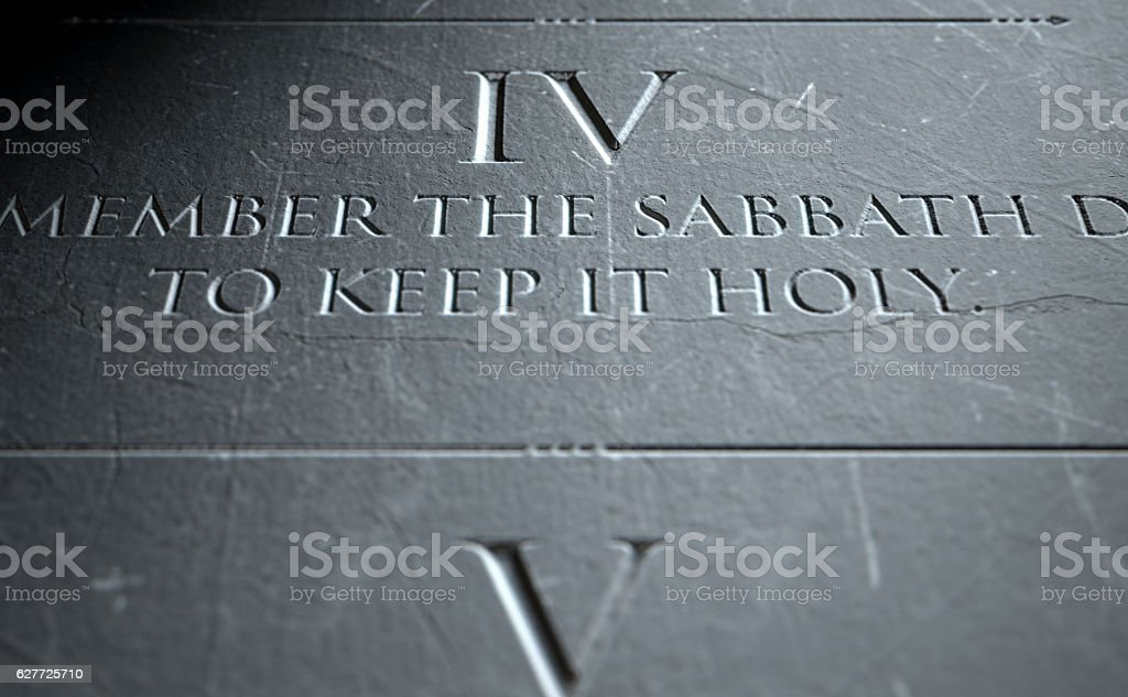 The Fourth Commandment stock photo