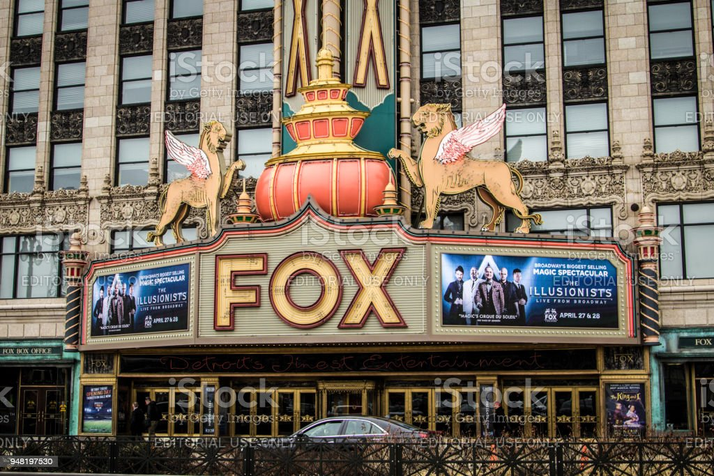 The Fox Theater In Downtown Detroit stock photo