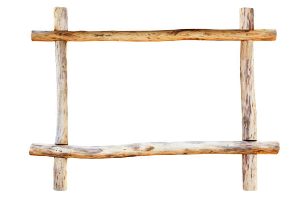 The frame made from oak logs – Foto