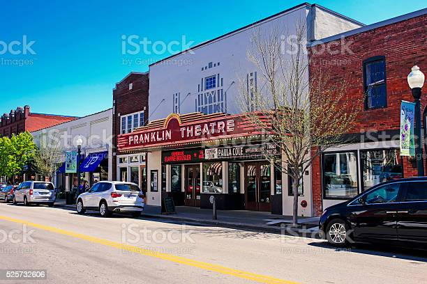 The Franklin Theatre On Main Street In Downtown Franklin Tennessee Stock Photo - Download Image Now