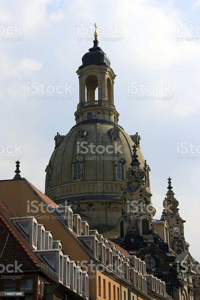 The frauenkirche in Dresden royalty-free stock photo
