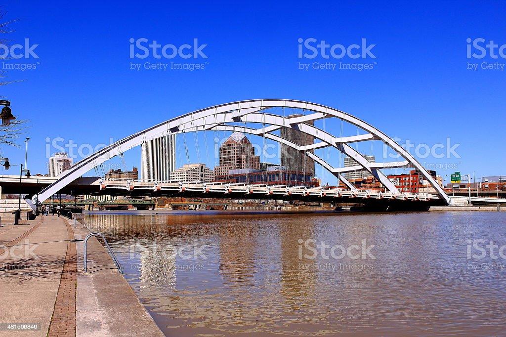 The Freddie-Sue Bridge. Rochester, NY. USA stock photo