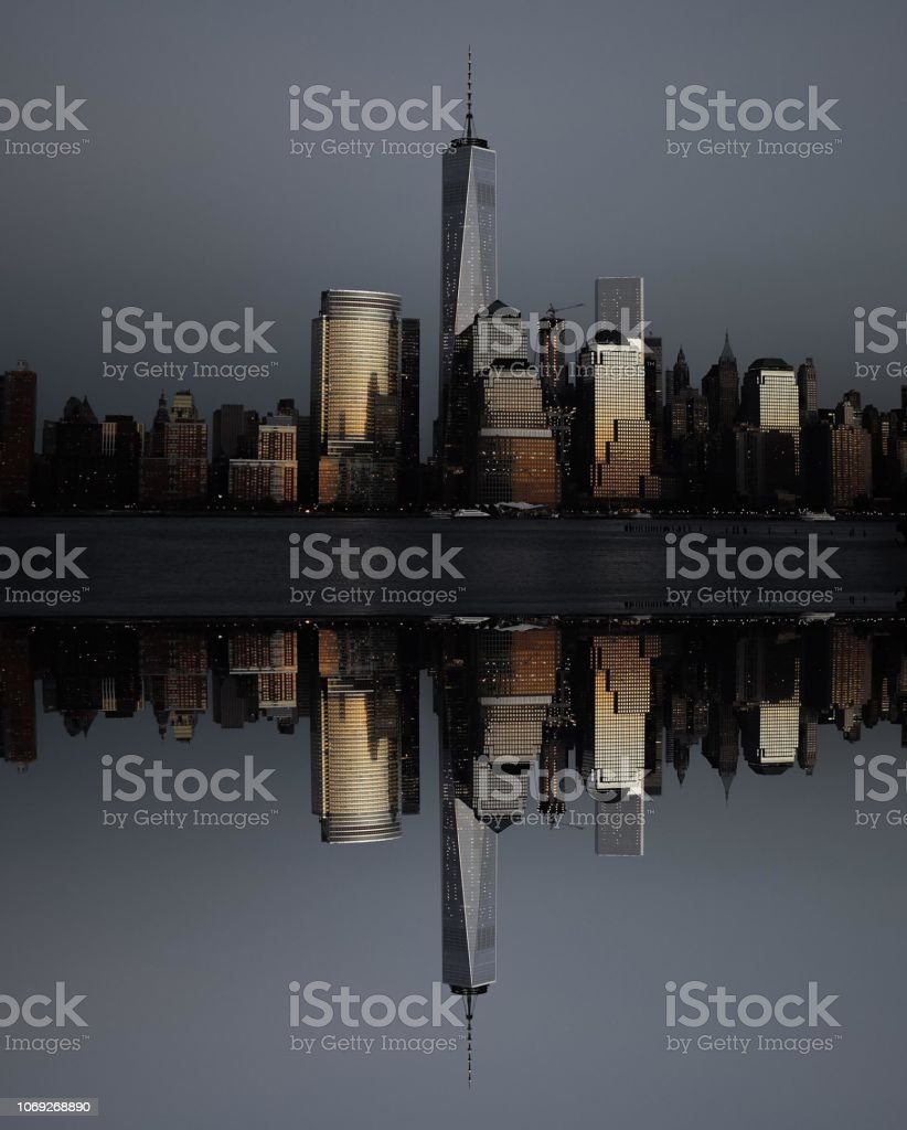 The Freedom Tower at Sunset stock photo