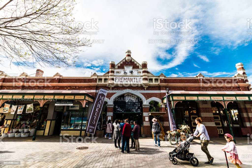 The Fremantle Markets, Western Australia stock photo