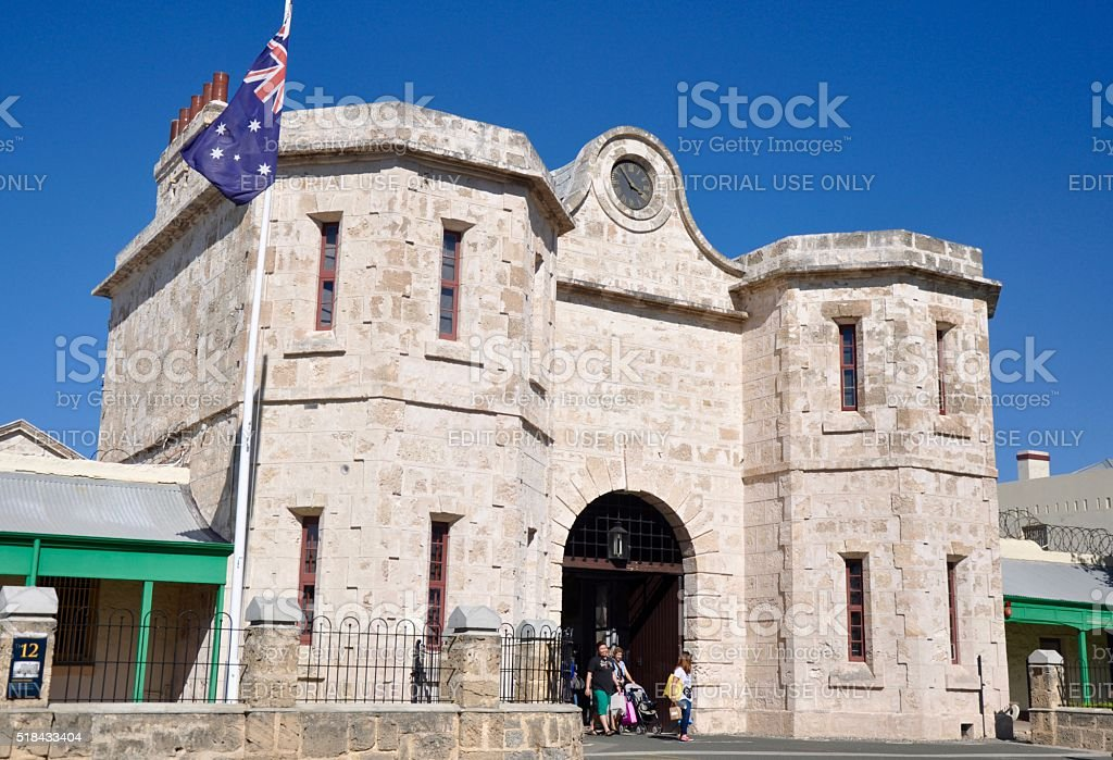 The Fremantle Prison stock photo