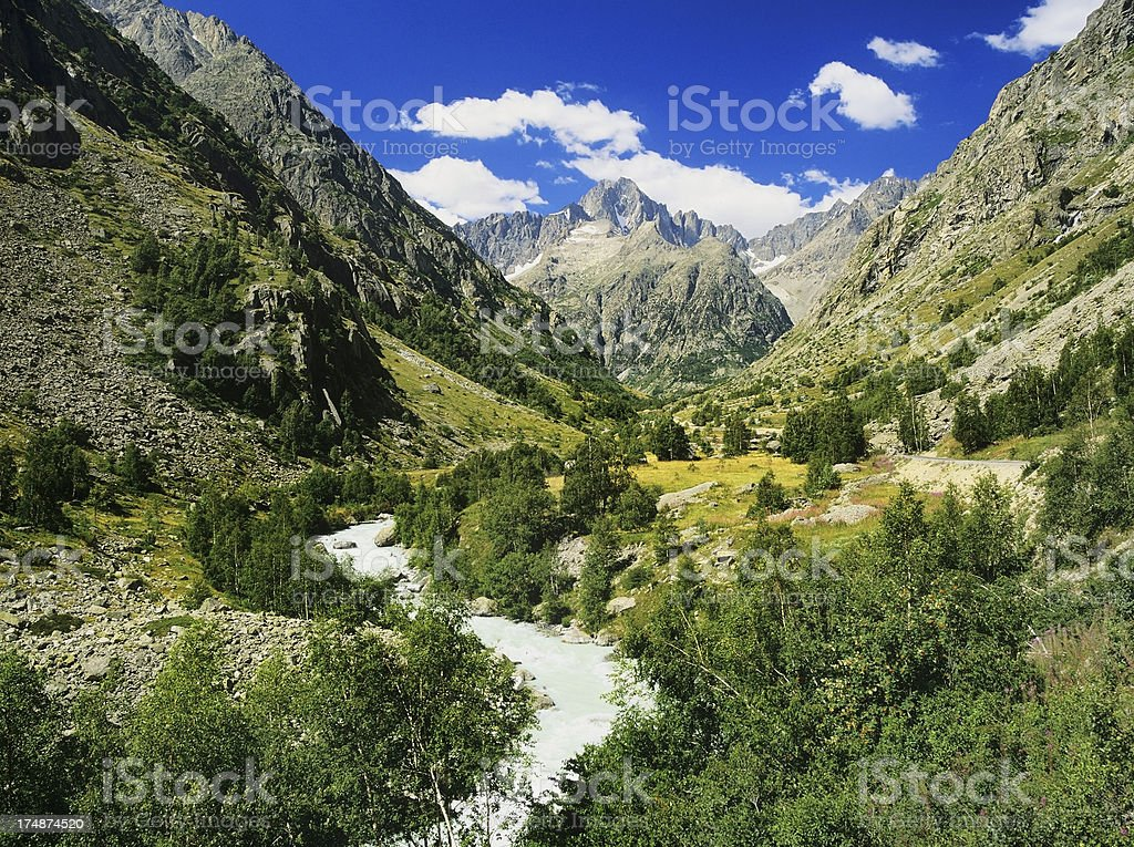the french alps royalty-free stock photo