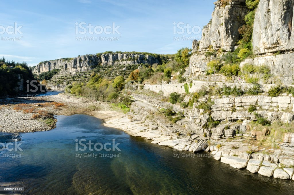 The french Ardeche river stock photo