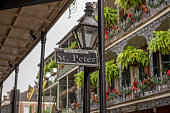 The buildings of the French Quarter.