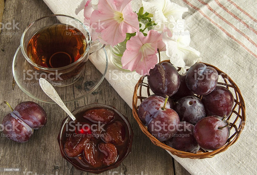 the fresh misted-over plums royalty-free stock photo