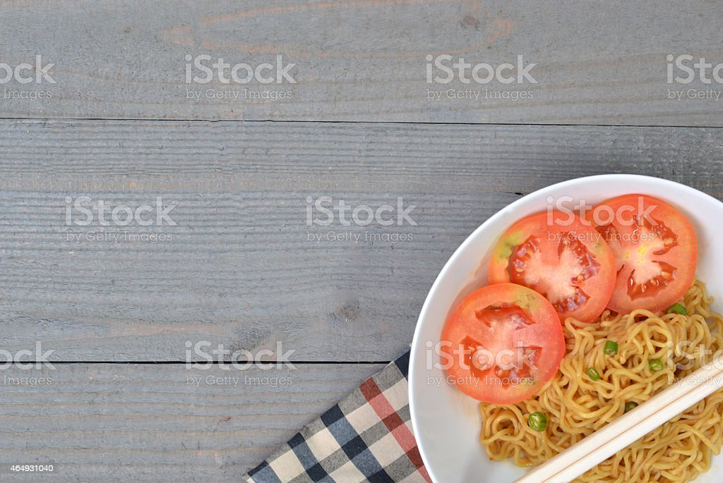 The Fried Noodle stock photo