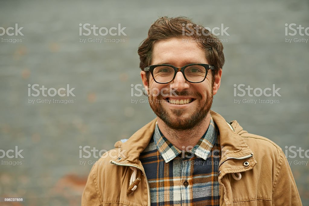 The friendliest guy around town stock photo