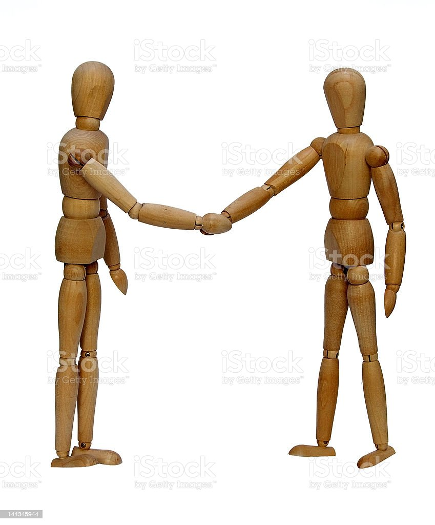 The friendly agreement royalty-free stock photo