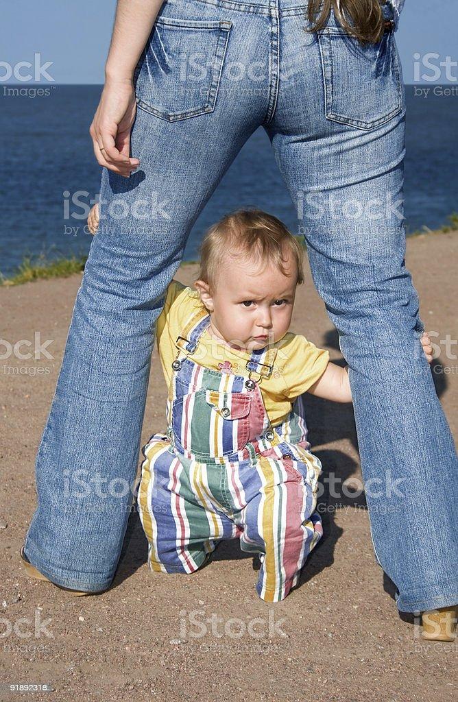 The frightened babe-5 stok fotoğrafı