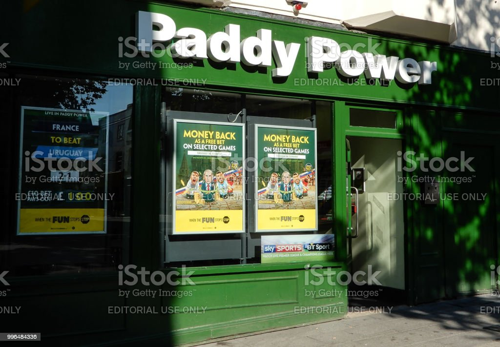 The front entrance to Paddy Power Bookmaker shop in Market Place
