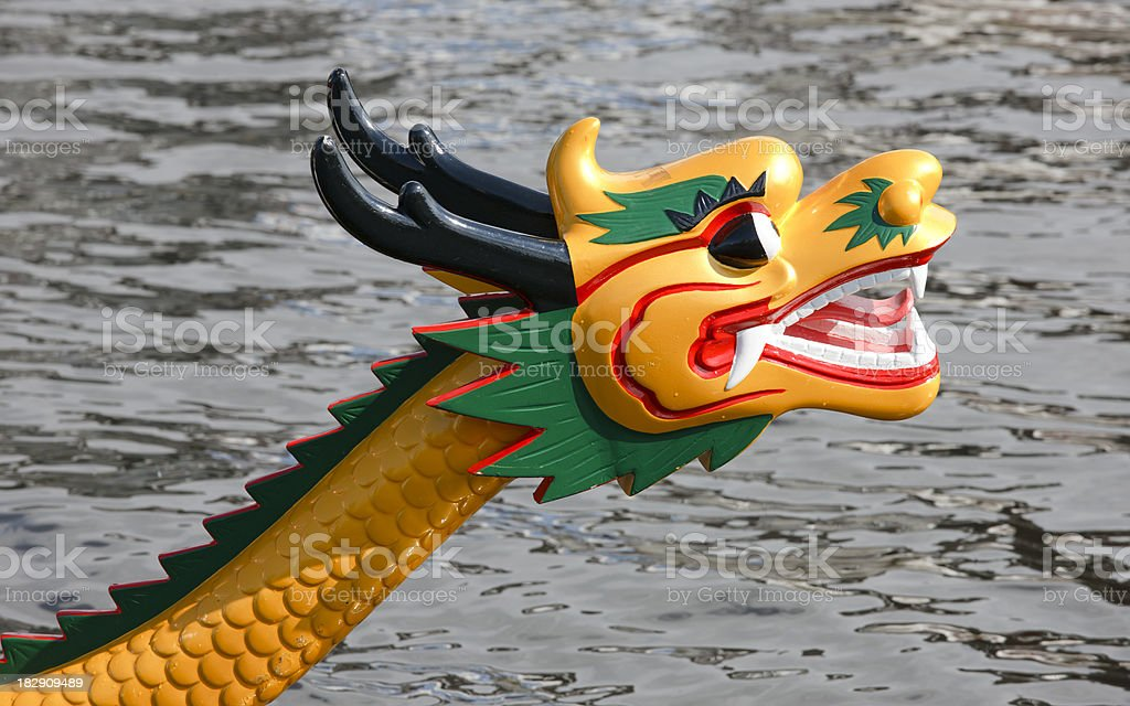 The front (head) of a dragon boat, outdoor close-up royalty-free stock photo