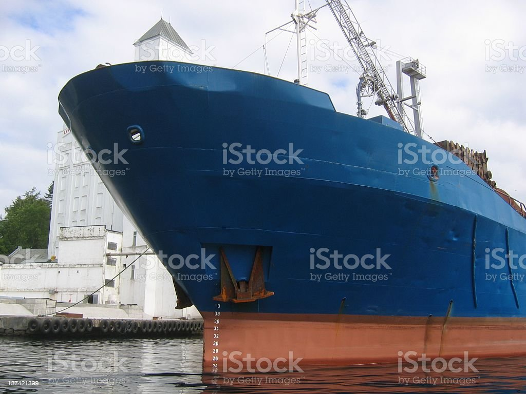 The front of a ship royalty-free stock photo