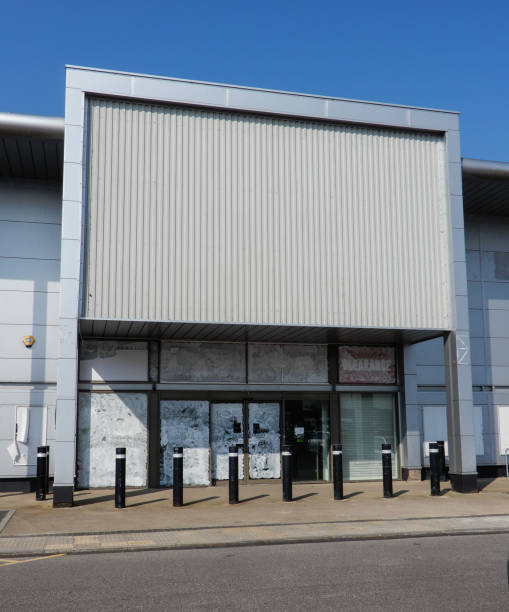 The front of an empty store in Brunel Retail Park stock photo