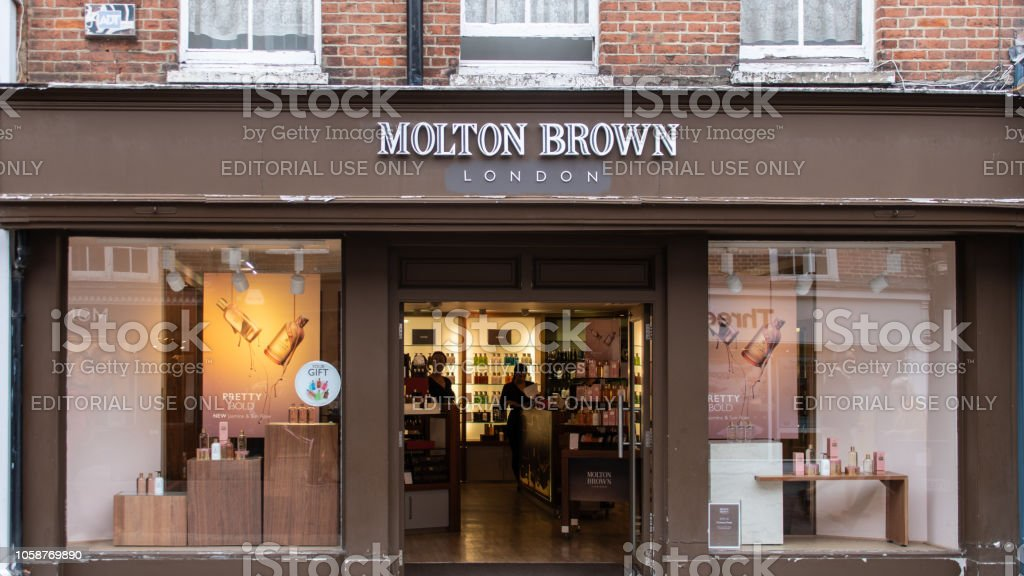 The front of Molton Brown cosmeetics store in East Street stock photo