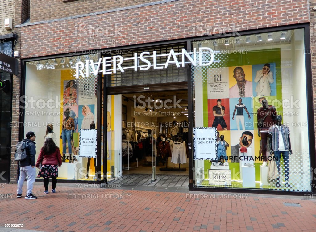 The Front of River Island on Broad Street stock photo