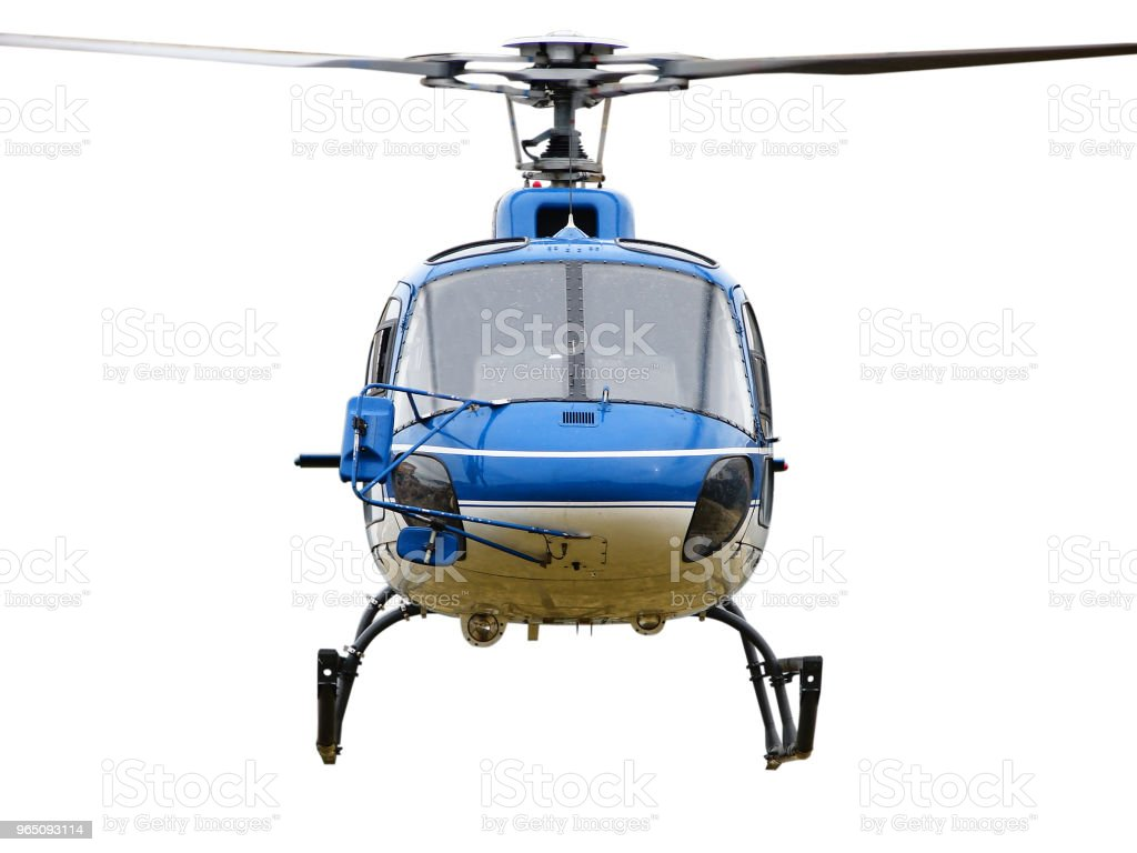 The front side of the helicopter royalty-free stock photo