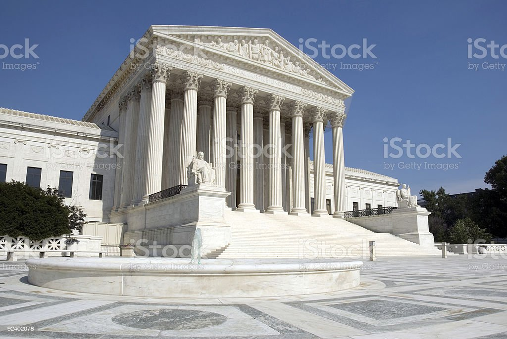 The front steps of the United States Supreme Court stock photo
