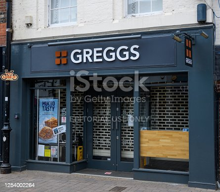 istock The frontage of Greggs bakery on Northbrook Street during Lockdown 1254002264