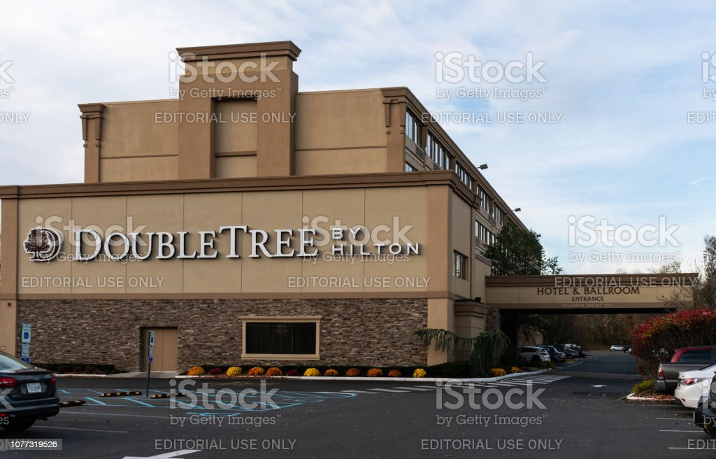 The Frontage of the Hilton Doubletree hotel on Hope Street stock photo