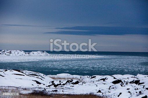 The Hudson Bay in the winter. Churchill, Canada