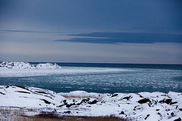 The Frozen Hudson Bay stock photo