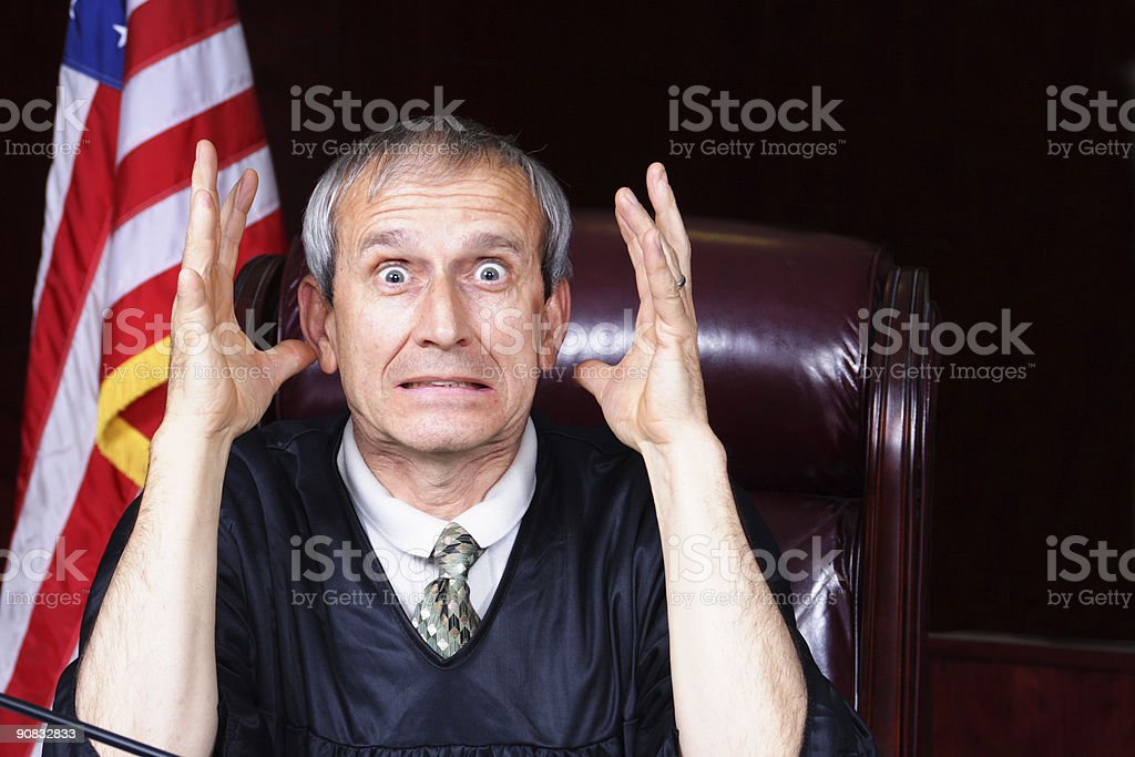 The Frustrated Judge royalty-free stock photo