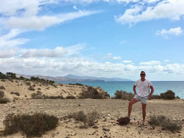 The  Fuerteventura coastline. stock photo