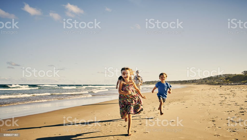 The fun is this way! stock photo