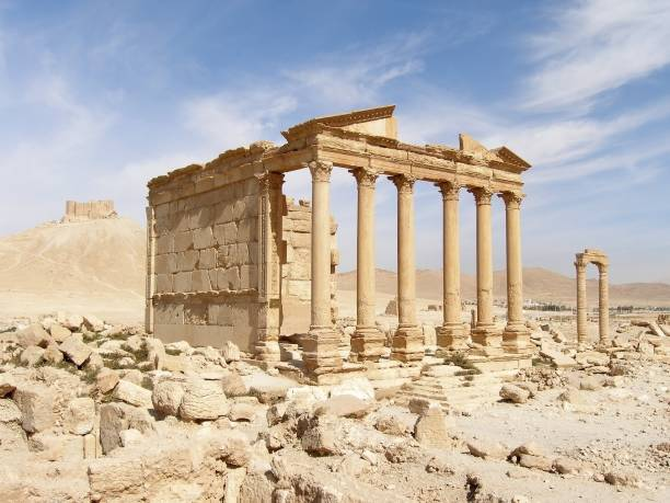 The Funerary Temple, Palmyra, Syria The Funerary Temple, Palmyra, Syria greco roman style stock pictures, royalty-free photos & images