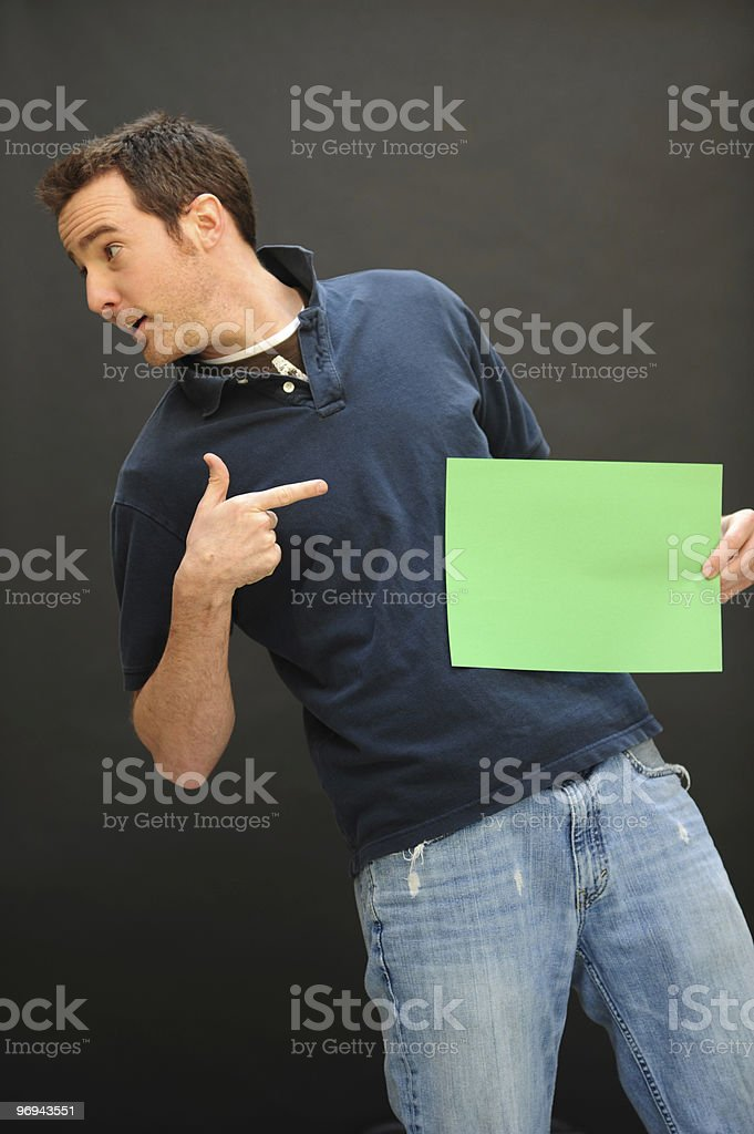 The Funny Man Can royalty-free stock photo