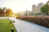 The Fushan park at dusk in Jiangmen Guangdong,China.