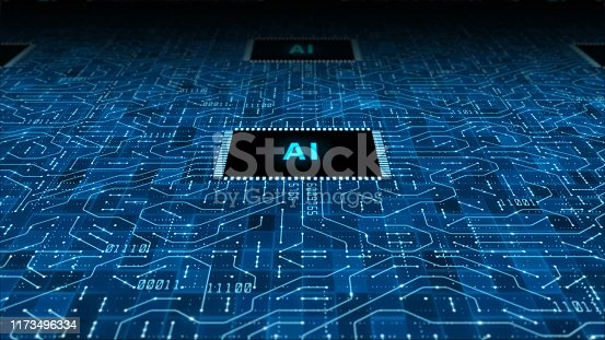 istock The future concept of AI artificial intelligence technology CPU central processor unit and circuit board for electronic and technology 1173496334