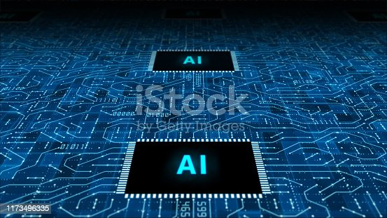 istock The future concept of AI artificial intelligence technology CPU central processor unit and circuit board for electronic and technology 1173496335
