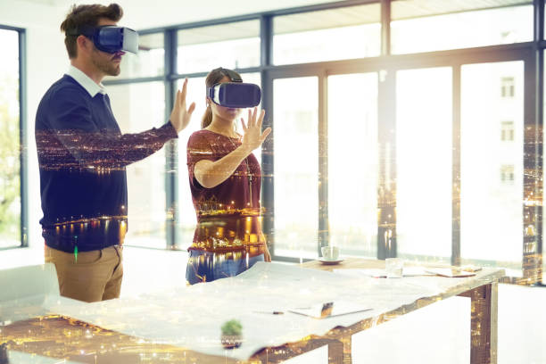 the future is a dream bigger than you would imagine - augmented reality stock photos and pictures
