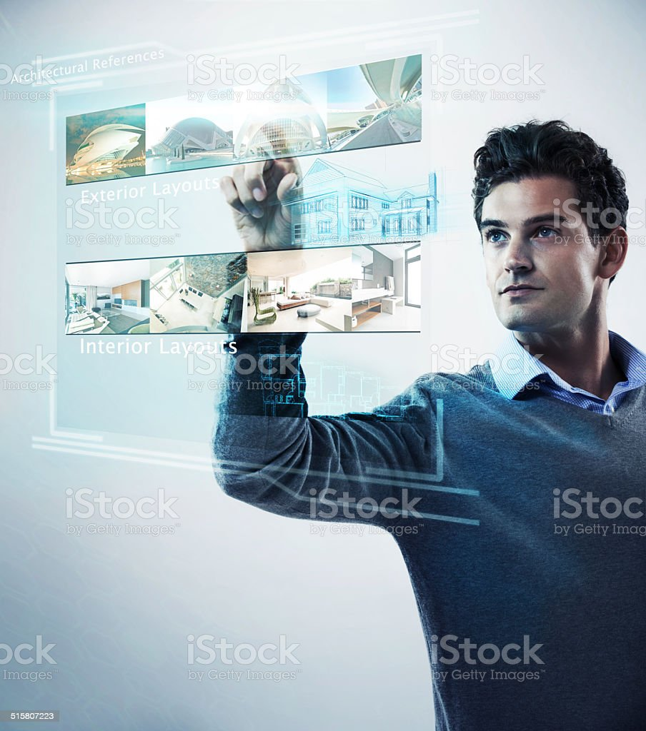 The future is a gesture away stock photo