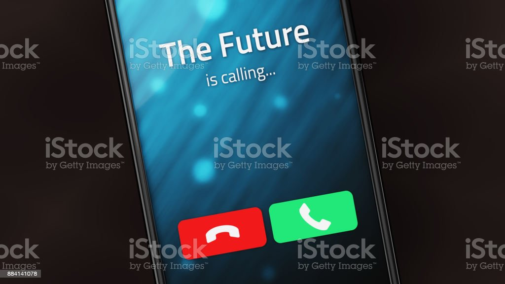 The Future is Calling stock photo