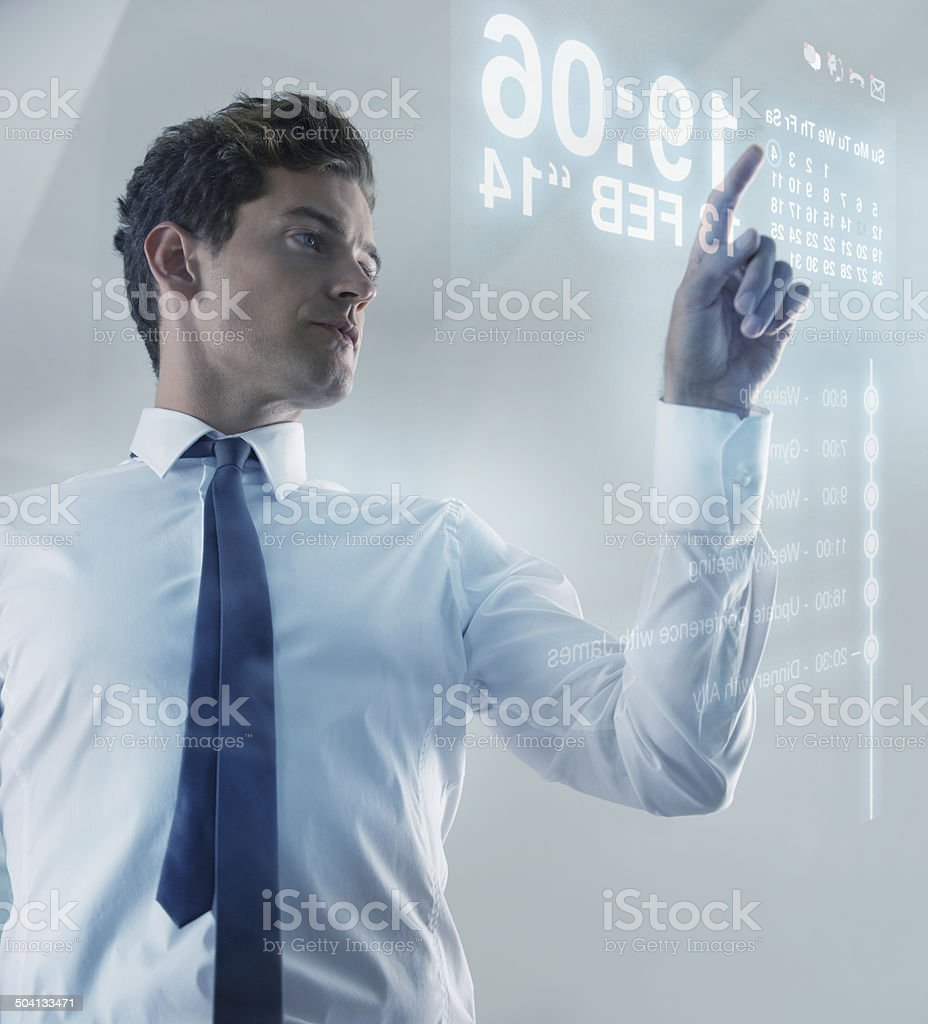 The future is now - Touchscreen technology stock photo