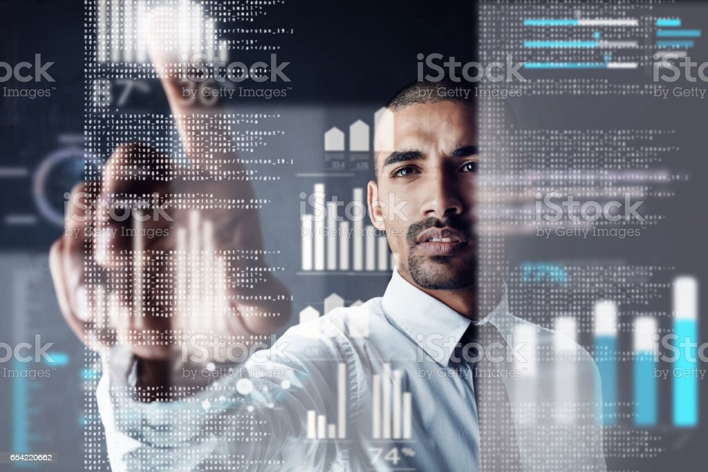 The future lies at your fingertips stock photo