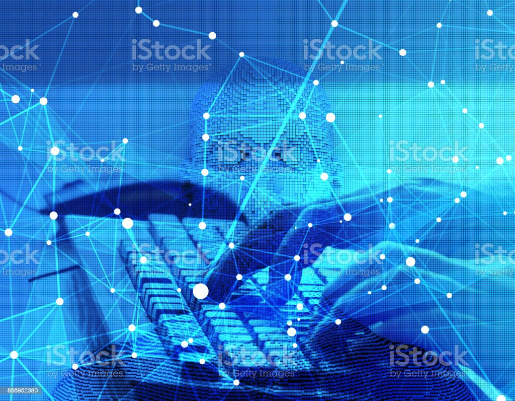 The future of human science and technology, digital technology, scientific and technological progress royalty-free stock photo