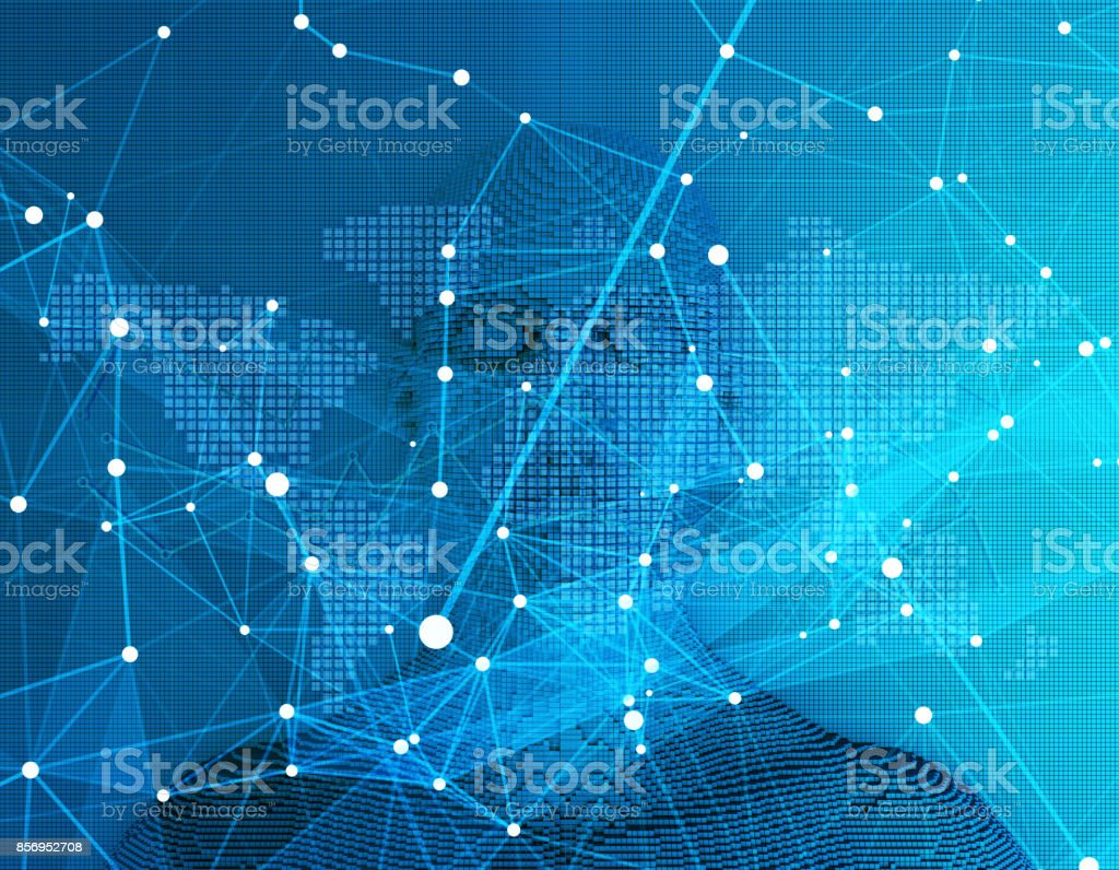 The future of human science and technology, digital technology, scientific and technological progress stock photo