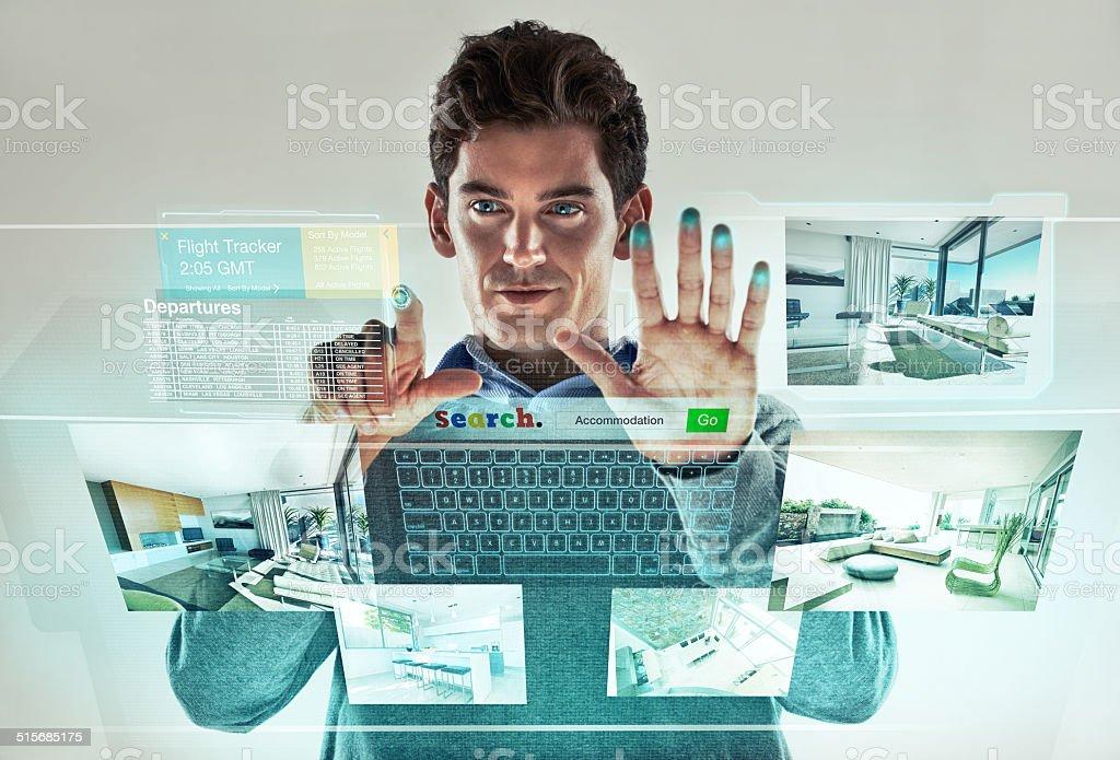 The future of multi-tasking stock photo