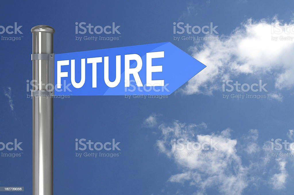 The Future Sign royalty-free stock photo